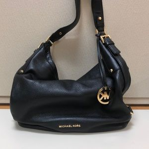Michael Kors small black leather tote